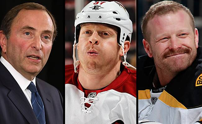 Gary Bettman, Rafi Torres, Tim Thomas