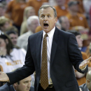 FILE - In this Feb. 2015, file photo, Texas head coach Rick Barnes calls to his players during the first half of an NCAA college basketball game against Iowa State in Austin, Texas. Barnes, who shaped Texas into a national basketball power with three Big 12 championships and 16 NCAA Tournament appearances in 17 years, will be released after yet another quick exit from the postseason, people with knowledge of the decision told The Associated Press on Saturday. (AP Photo/Eric Gay, File)