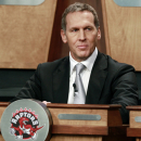 Bryan Colangelo, general manager of the Toronto Raptors, attends the 2011 NBA basketball draft lottery, Tuesday, May 17, 2011 in Secaucus, N.J. (AP Photo/Julio Cortez)
