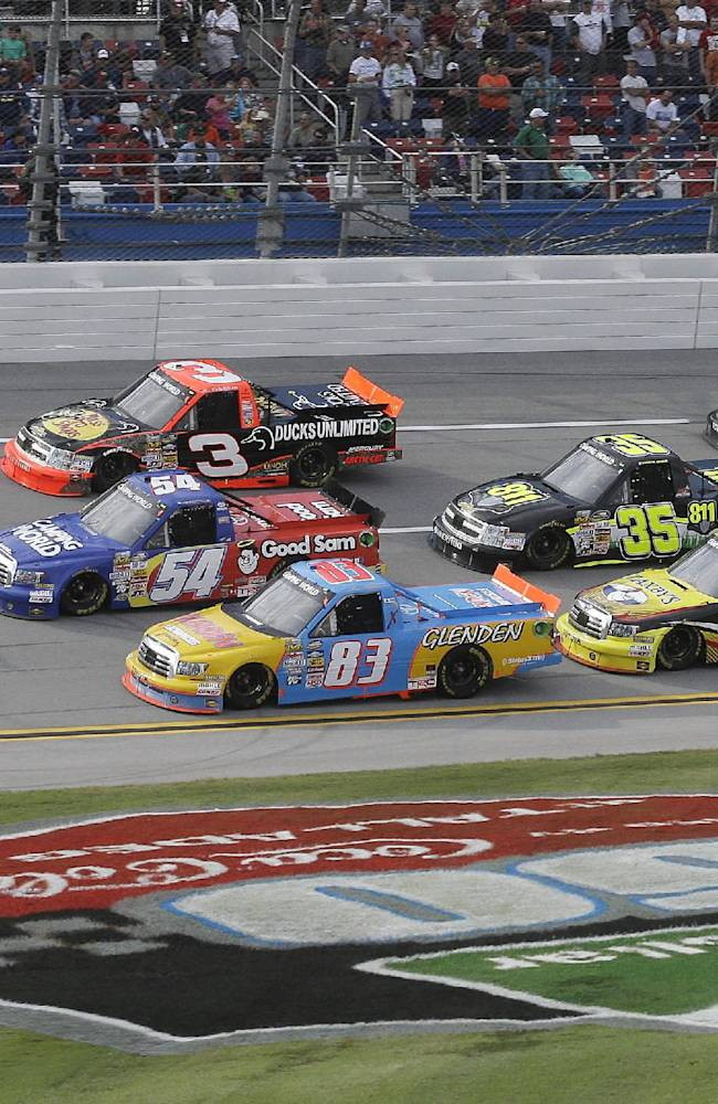 Sauter wins crash-marred Talladega Truck race