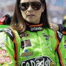 Danica Patrick listens to her crew before the NASCAR Sprint Cup Series auto race Geico 400 at Chicagoland Speedway in Joliet, Ill., Sunday, Sept. 16, 2012. (AP Photo/Nam Y. Huh)