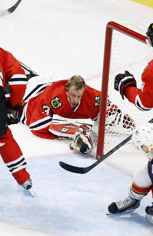 Without Crawford, Blackhawks top Panthers 6-2