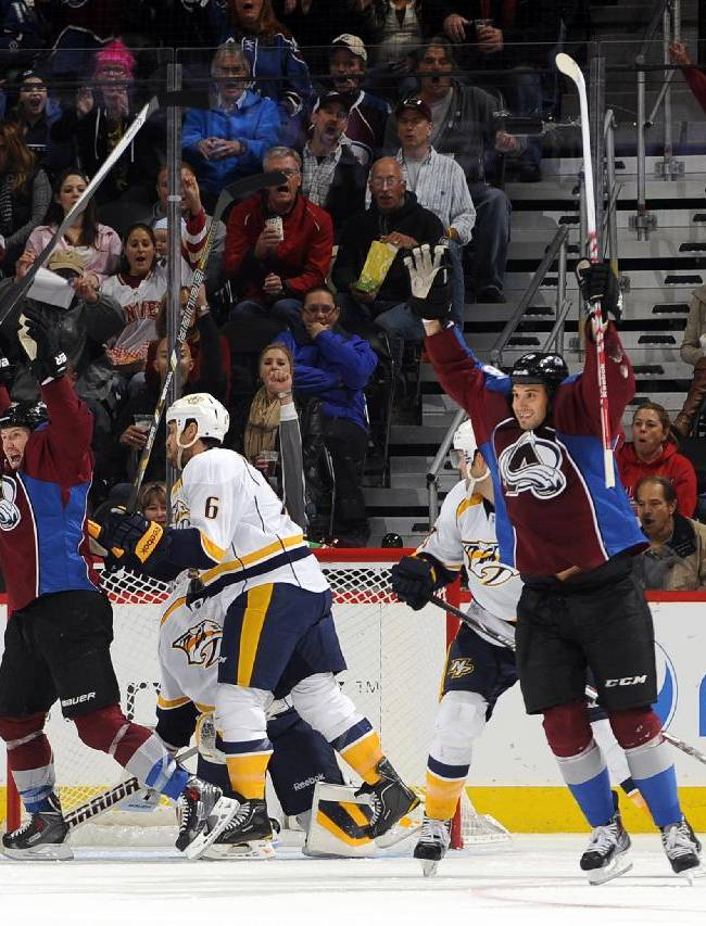 Avs too much for Predators in 3-1 victory