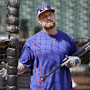 Texas Rangers Josh Hamilton comes out of the batting cage during a workout before a baseball game against the Oakland Athletics in Arlington, Texas, Tuesday, June 23, 2015. (AP Photo/LM Otero)