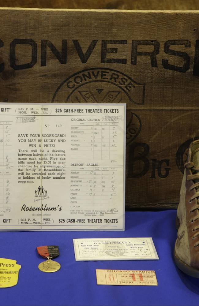 NYC exhibit showcases basketball's Black Fives Era