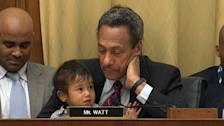Fussy Toddler Interrupts Eric Holder's Testimony