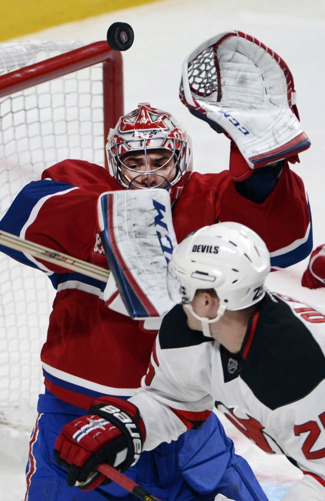 White lifts Canadiens over Devils 3-2