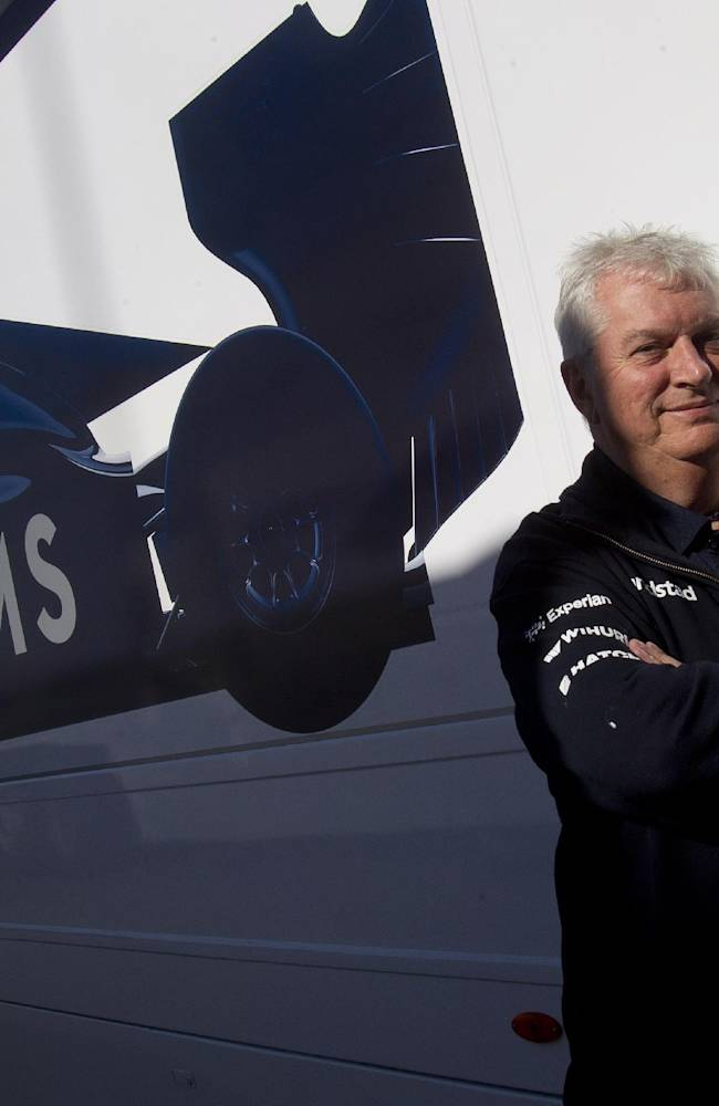 Pat Symonds, chief technical officer for Williams poses for a picture during the 2014 Formula One Testing at the Circuito de Jerez on Thursday, Jan. 30, 2014, in Jerez de la Frontera, Spain. Formula One's sweeping rule changes may be behind defending champion Red Bull's dismal start to the preseason, but the more modest teams on the circuit don't see the makings of a major power shift. Williams' chief technical officer, Pat Symonds, said the best way to encourage parity was not through change, but rather by creating