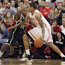 Ohio State's LaQuinton Ross, right, posts up against Michigan State's Keith Appling during the first half of an NCAA college basketball game Sunday, March 9, 2014, in Columbus, Ohio. (AP Photo/Jay LaPrete)