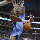 Los Angeles Clippers center DeAndre Jordan dunks during the second half of an NBA basketball game against the Indiana Pacers, Sunday, Dec. 1, 2013, in Los Angeles The Associated Press