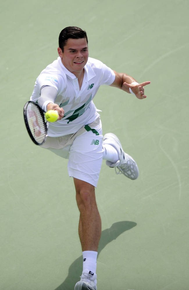 Raonic tops Pospisil in 1st all-Canadian ATP final