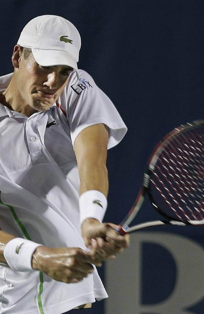 Injured Isner withdraws from Winston-Salem Open