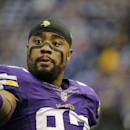 Minnesota Vikings defensive end Everson Griffen walks off the field before an NFL football game against the Philadelphia Eagles, Sunday, Dec. 15, 2013, in Minneapolis The Associated Press