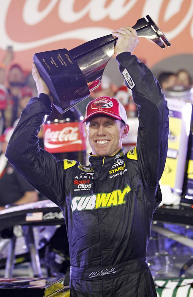 Edwards' Coca-Cola 600 win gives Gibbs much to celebrate