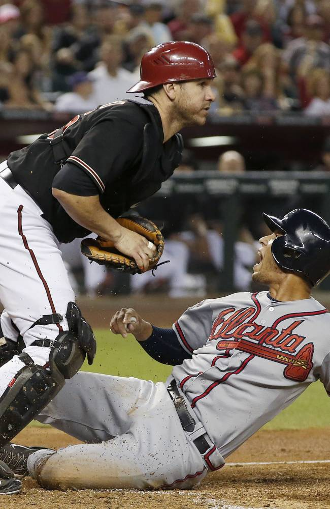 Kimbrel blows save, D-Backs beat Braves 4-3 in 11