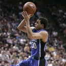 Duke's Seth Curry shoots during an NCAA college basketball game against Florida State on Saturday, Feb. 2, 2013, in Tallahassee, Fla. Curry scored 21 points as Duke won 79-60. (AP Photo/Steve Cannon)