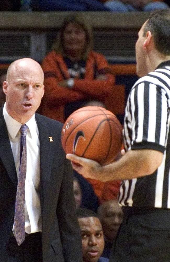 Illinois' Groce: Angry outbursts over the line
