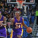 NEW ORLEANS, LA - JANUARY 21: Kobe Bryant #24 of the Los Angeles Lakers handles the ball against the New Orleans Pelicans during the game on January 21, 2015 at the Smoothie King Center in New Orleans, Louisiana. (Photo by Layne Murdoch Jr./NBAE via Getty Images)