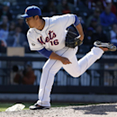 New York Mets relief pitcher Daisuke Matsuzaka follows through during a 4-1 victory over the St. Louis Cardinals in a baseball game in New York, Thursday, April 24, 2014. Matsuzaka finished the four-hitter with a perfect ninth for his first save since 200
