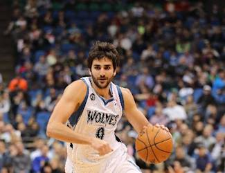 MINNEAPOLIS, MN - April 16: Ricky Rubio #9 of the Minnesota Timberwolves drives to the basket against the Utah Jazz on April 16, 2014 at Target Center in Minneapolis, Minnesota. (Photo by Jordan Johnson/NBAE via Getty Images)