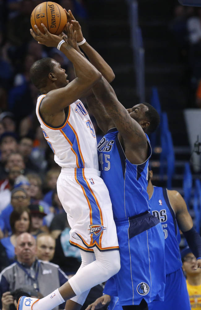 Marion, Carter help Mavericks beat Thunder 109-86