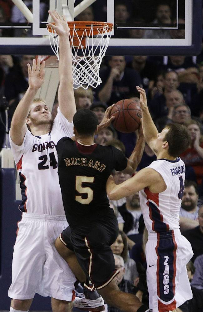 Stockton lifts No. 24 Gonzaga past Santa Clara