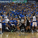 Vince Carter #25 of the Dallas Mavericks shoots the game winning shot as the Mavericks beat the San Antonio Spurs 109-108 during Game Three of the Western Conference Quarterfinals during the 2014 NBA Playoffs at American Airlines Center on April 26, 2014 in Dallas, Texas. (Photo by Tom Pennington/Getty Images)