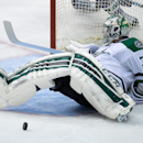 Dallas Stars goalie Kari Lehtonen, of Finland, stops a Vancouver Canucks shot during the second period of an NHL hockey game Wednesday, Dec. 17, 2014, in Vancouver, British Columbia The Associated Press