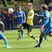 Dortmund's Marco Reus, center, Hoffenheim's Fabian Johnson of the U.S., left, and Hoffenheim's Jannik Vestergaard of Denmark, right, challenge for the ball during the German first division Bundesliga soccer match between Borussia Dortmund and TSG 1899 Hoffenheim in Dortmund, Germany, Saturday, May 18, 2013. (AP Photo/Michael Probst)