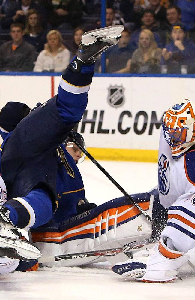 Jaden Schwartz lead Blues past Oilers, 6-2