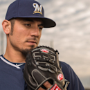 MARYVALE, AZ - FEBRUARY 23: Matt Garza #22 of the Milwaukee Brewers poses for a portrait on photo day at the Milwaukee Brewers Spring Training Complex in Maryvale, Arizona on February 23, 2014. (Photo by Rob Tringali/Getty Images) Getty Images