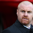 Burnley's manager Sean Dyche awaits the start of their English Premier League soccer match between Sunderland and Burnley at the Stadium of Light, Sunderland, England, Saturday, Jan. 31, 2015