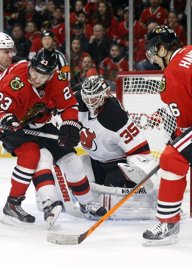 Blackhawks too much for Devils 5-2