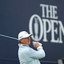 Ernie Els of South Africa watches his tee shot on the first hole during the first round of the British Open golf championship on the Old Course in St. Andrews, Scotland, July 16, 2015. REUTERS/Lee Smith