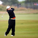 South Korea's Inbee Park, plays her shot on the second fairway during the first round of the Women's British Open golf championship on the Old Course at St Andrews, Scotland, Thursday Aug. 1, 2013. (AP Photo/Scott Heppell)