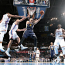 OKLAHOMA CITY, OK - OCTOBER 21: Enes Kanter #0 of the Utah Jazz shoots against the Oklahoma City Thunder on October 21, 2014 at Chesapeake Energy Arena in Oklahoma City, OK. (Photo by Layne Murdoch/NBAE via Getty Images)