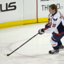Washington Capitals' Nicklas Backstrom warms up for the Capitals' NHL hockey game against the Florida Panthers, Thursday, Feb. 27, 2014 in Sunrise, Fla The Associated Press