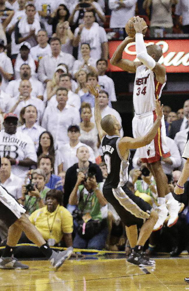 Ray Allen still hearing about his Finals moment