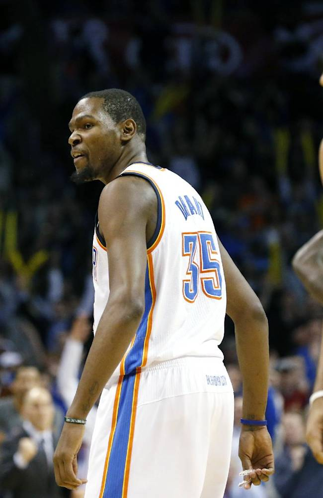 Durant scores 46, leads Thunder past Trail Blazers