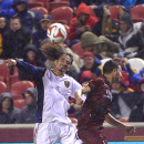 Leah Hogsten | The Salt Lake Tribune Real Salt Lake forward Devon Sandoval , left, and Sacramento Republic FC midfielder Max Alvarez battlefor the ball during the exhibition game at Rio Tinto Stadium in Sandy, Utah, Tuesday, Sept.30, 2014 The Associated