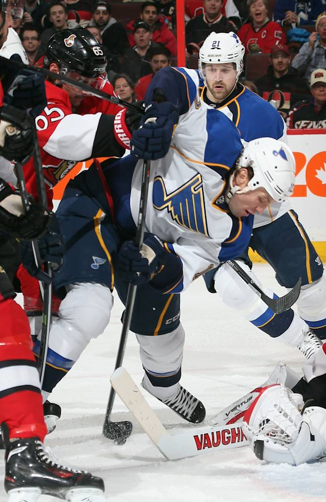 St Louis Blues v Ottawa Senators