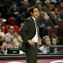 Miami Heat head coach Erik Spoelstra directs his team against the Chicago Bulls during the second half of an NBA basketball game in Chicago, Thursday, Dec. 5, 2013. The Bulls defeated the Heat 107-87 The Associated Press