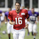 Minnesota Vikings quarterback Matt Cassel warms up during an NFL football training camp practice, Wednesday, July 30, 2014, in Mankato, Minn The Associated Press