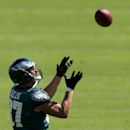 Philadelphia Eagles tight end Brent Celek catches a pass during NFL football practice at the team's training facility, Tuesday, Sept. 30, 2014, in Philadelphia The Associated Press