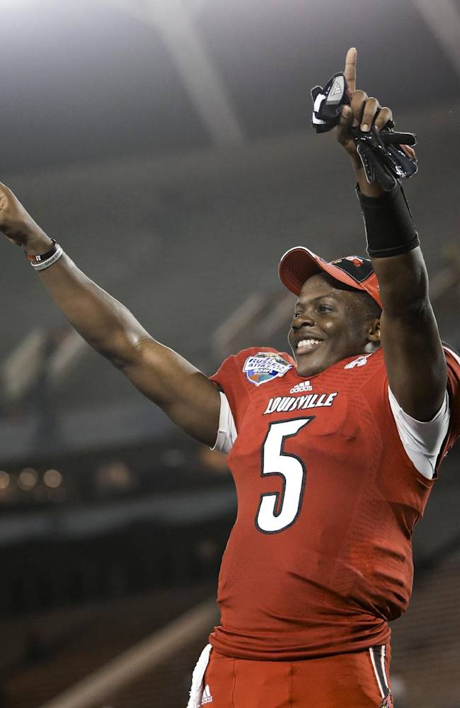 Bridgewater leaving No. 18 Louisville for the NFL