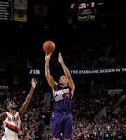 PORTLAND, OR - APRIL 4: Gerald Green #14 of the Phoenix Suns shoots against the Portland Trail Blazers on April 4, 2014 at the Moda Center Arena in Portland, Oregon. (Photo by Cameron Browne/NBAE via Getty Images)