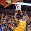 Tennessee's Jarnell Stokes shoots during an NCAA college basketball game against Memphis at Thompson-Boling Arena, Friday, Jan. 4, 2013. (AP Photo/Knoxville News Sentinel, Amy Smotherman Burgess)