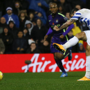 QPR's Charlie Austin scores a goal during the English Premier League soccer match between Queens Park Rangers and Manchester City at Loftus Road stadium in London, Saturday, Nov. 8, 2014