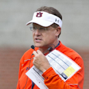 Auburn coach Gus Malzahn watches his players during NCAA college football practice Friday, Aug. 1, 2014, in Auburn, Ala. (AP Photo/Brynn Anderson)