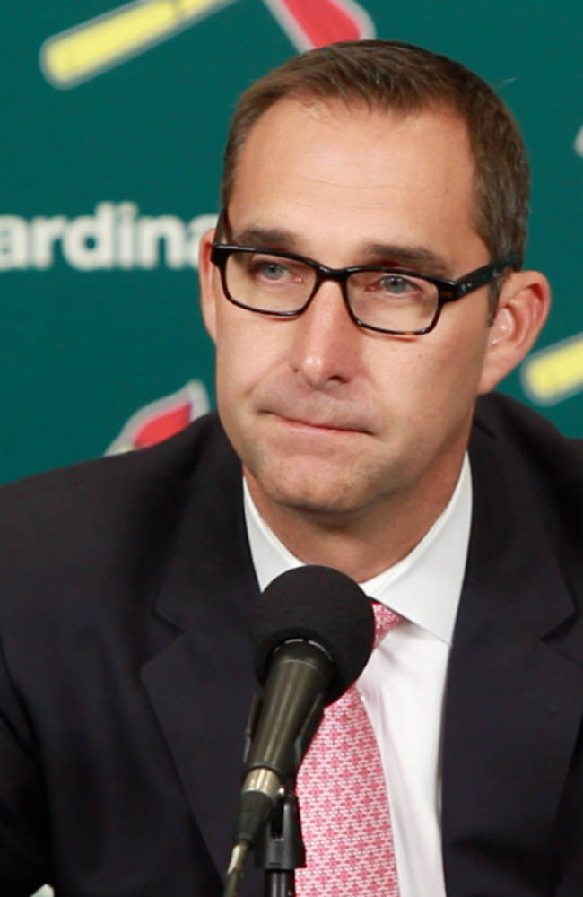 Cardinals general manager John Mozeliak talks about the past season and next season's roster on Monday, Nov. 4, 2013 at Busch Stadium in St. Louis